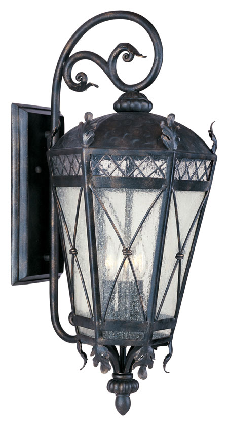 Maxim 30457cdat canterbury mediterranean artesian bronze for Mediterranean lighting fixtures