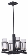 Maxim 32455CLAR Fusion 12.5  Tall LED AnthraciteMini Lighting Chandelier