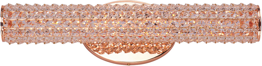 "Bathroom Lighting Gold maxim 32502bcrg meteor rose gold led 20"" bathroom light - max"