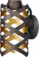 Maxim 35051BZGTGLD Weave Contemporary Bronze Gilt and Gold LED Lamp Sconce