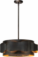 Maxim 38395BZGTGLD Flow Contemporary Bronze Gilt and Gold Drum Hanging Light