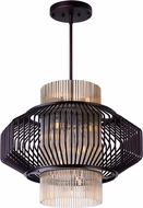 Maxim 38487CGOI Aviary Contemporary Oil Rubbed Bronze LED Pendant Lighting Fixture