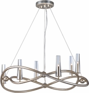 Maxim 38495CLGS Entwine Golden Silver Xenon Chandelier Lighting