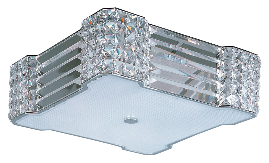 Xenon Ceiling Lights : Maxim bcpc manhattan polished chrome finish quot tall