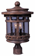 Maxim 40036CDSE Santa Barbara VX Traditional Sienna 16  Tall Outdoor Post Light