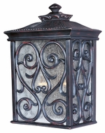 Maxim 40127CDOB Newbury VX Mediterranean Oriental Bronze 15  Tall Outdoor Wall Light Sconce