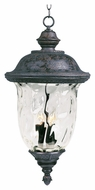 Maxim 40428WGOB Carriage House VX Traditional Oriental Bronze 28  Tall Outdoor Drop Ceiling Light Fixture