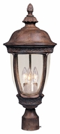 Maxim 40461CDSE Knob Hill VX Traditional Sienna 13  Wide Exterior Lamp Post Light Fixture