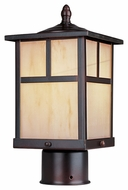 Maxim 4055HOBU Coldwater Craftsman Burnished 12  Tall Outdoor Post Lighting Fixture