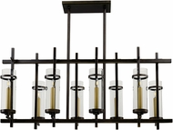 Maxim 43747CLGB Midtown Modern Gold Bronze LED Chandelier / Island Lighting