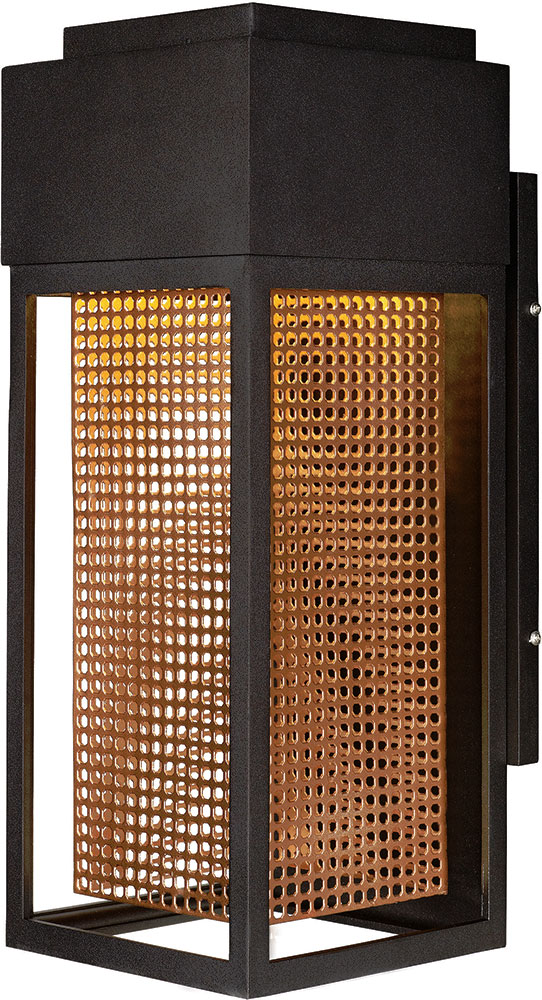 Rose Gold Wall Lamps : Maxim 53599GBZRG Townhouse Contemporary Galaxy Bronze / Rose Gold LED Outdoor Wall Sconce ...
