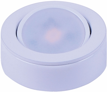 Maxim 53830WT CounterMax MX-LD-AC Modern White LED Disc Under Cabinet Light