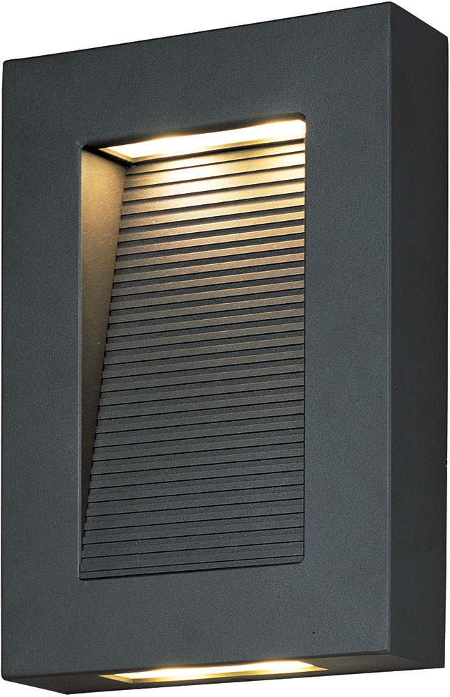 Architectural Led Wall Sconces : Maxim 54350ABZ Avenue Contemporary Architectural Bronze LED Outdoor Wall Sconce Lighting - MAX ...