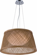 Maxim 54374NA Bahama Contemporary Natural LED 20  Ceiling Light Pendant
