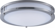 Maxim 55543WTSN Linear Modern Satin Nickel LED 14  Flush Mount Lighting Fixture