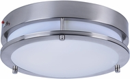 Maxim 55546WTSN Linear Modern Satin Nickel LED Flush Mount Ceiling Light Fixture