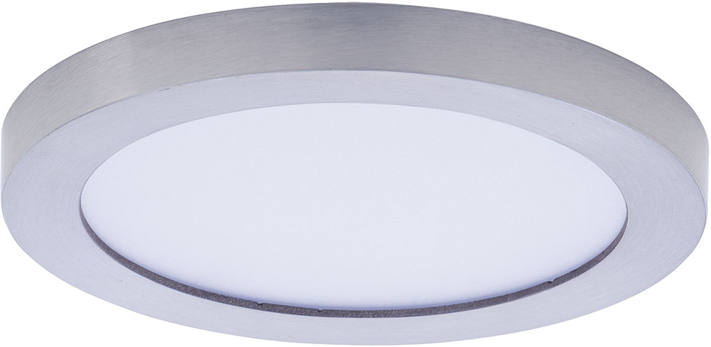 maxim 57710wtsn wafer led modern satin nickel led outdoor flush