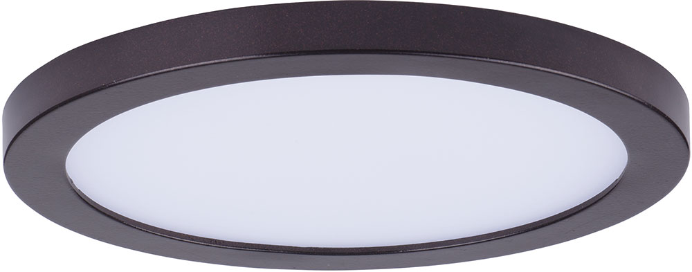 Maxim 57712WTBZ Wafer LED Modern Bronze LED Outdoor Flush Mount Ceiling Light Fixture - MAX ...