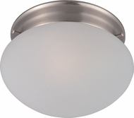 Maxim 5884FTSN Essentials - 588x Satin Nickel Flush Lighting