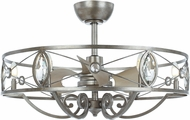 Maxim 60013SM Solitaire Modern Silver Mist LED Home Ceiling Fan