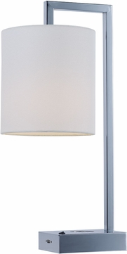 Maxim 60152WAPC Hotel Contemporary Polished Chrome LED Table Lamp