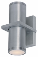 Maxim 6117AL Lightray Modern Brushed Aluminum Finish 6  Wide Exterior Sconce Lighting