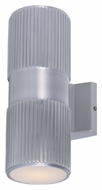 Maxim 6126AL Lightray Modern Brushed Aluminum Finish 4.25  Wide Exterior Wall Sconce Lighting