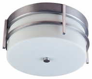 Maxim 85217WTBM Luna EE Contemporary Brushed Metal 5  Tall Outdoor Flush Mount Lighting