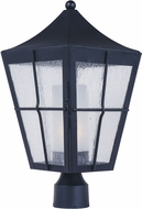 Maxim 85330CDFTBK Revere Black Fluorescent Exterior Post Lighting