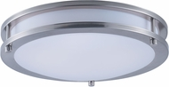 Maxim 85552WTSN Linear EE Contemporary Satin Nickel Fluorescent 12  Ceiling Light Fixture