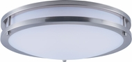 Maxim 85554WTSN Linear EE Contemporary Satin Nickel Fluorescent 16  Flush Mount Lighting