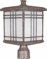 Maxim 85690FSET Sienna EE Craftsman Earth Tone Exterior Pole Lighting Fixture
