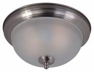 Maxim 85849FTSN Flush Mount EE 11.5  Wide Fluorescent Satin Nickel Ceiling Light