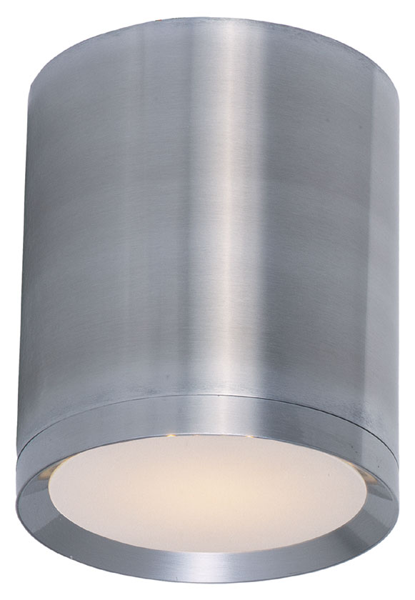 Maxim 86104al Lightray Led Modern Brushed Aluminum Finish 5 Nbsp Wide Exterior Flush Mount Ceiling Light Loading Zoom
