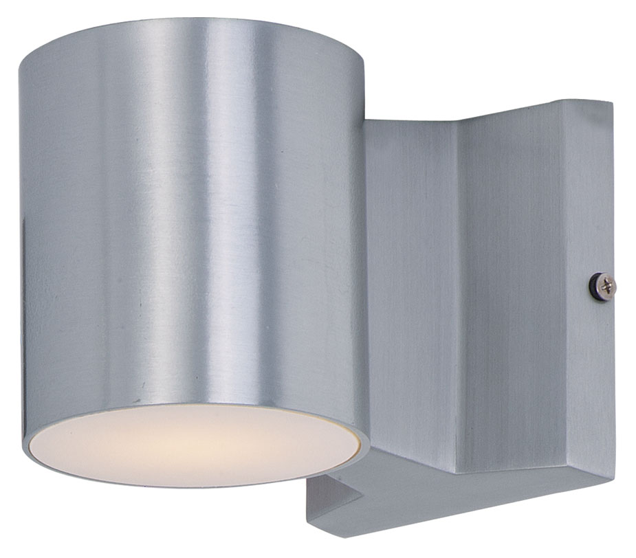Maxim 86106AL Lightray LED Modern Brushed Aluminum Finish 4u0026nbsp; Wide  Exterior Wall Sconce. Loading Zoom