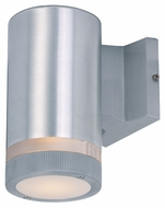 Maxim 86110AL Lightray LED Modern Brushed Aluminum Finish 4.25  Wide Exterior Wall Light Fixture