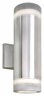 Maxim 86112AL Lightray LED Modern Brushed Aluminum Finish 4.25  Wide Exterior Wall Lighting Sconce
