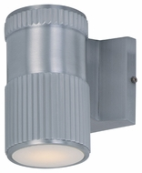 Maxim 86122AL Lightray LED Modern Brushed Aluminum Finish 4  Wide Exterior Wall Sconce Light