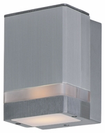 Maxim 86128AL Lightray LED Modern Brushed Aluminum Finish 4.25  Wide Exterior Wall Sconce Lighting