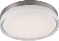 Maxim 87634CLWTSN Illuminaire LED Satin Nickel Flush Ceiling Light Fixture