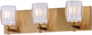 Maxim 9043CIGO Bravado Contemporary Golden Bronze LED 3-Light Bath Lighting Fixture