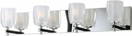 Maxim 9044CIPC Bravado Modern Polished Chrome LED 4-Light Bathroom Vanity Light
