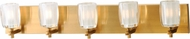 Maxim 9045CIGO Bravado Contemporary Golden Bronze LED 5-Light Bathroom Sconce