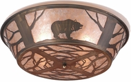 Meyda Tiffany 10011 Grizzly Bear on the Loose Rustic Antique Copper / Silver Mica Ceiling Light