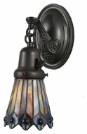 Meyda Tiffany 106004 Tiffany Jeweled Peacock Tiffany 4  Wide Wall Sconce