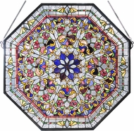 Meyda Tiffany 107222 Front Hall Floral Tiffany Patina Stained Glass Window