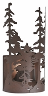 Meyda Tiffany 107625 Tall Pines Country Cafe Noir Finish 11 Wide Sconce Lighting