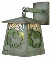 Meyda Tiffany 107760 Stillwater Deer at Dawn Rustic Tarnished Copper Finish 10  Tall Exterior Light Sconce