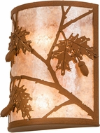 Meyda Tiffany 110931 Oak Leaf & Acorn Earth / Silver Mica Wall Lighting