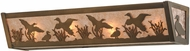 Meyda Tiffany 113060 Ducks in Flight Rustic Antique Copper / Silver Mica Bath Lighting Fixture